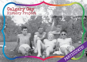 Project postcard. Five shirtless men sunbathe in Calgary, Alberta.