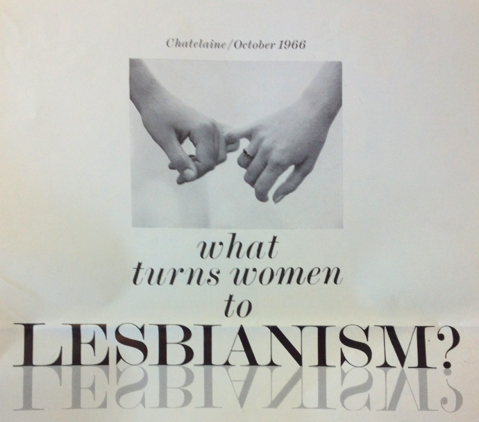 What turns women to Lesbianism?  Ideas from 1966.