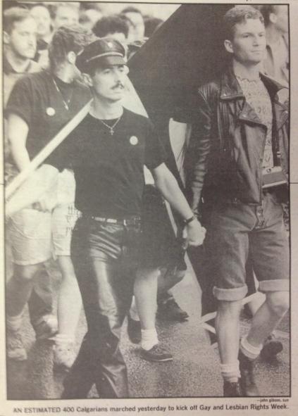 Calgary's First Pride Parade - 1991?