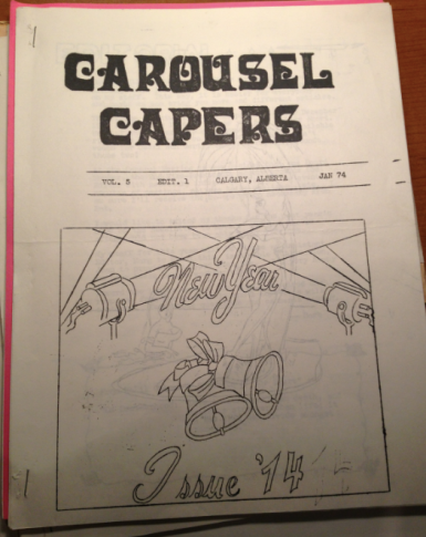 Issue of Club Carousel Capers from exactly 40 years ago.