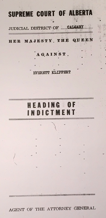Klippert 1960 Indictment
