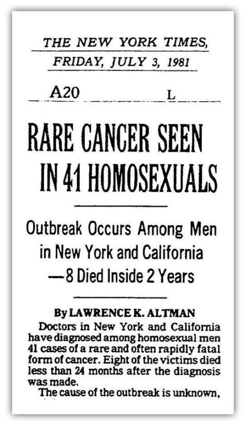 AIDS NYT 1981