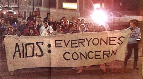 AIDS Vigil Calgary 1987
